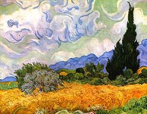 fe73ececdd T. colaninno - papaveri nel grano van Gogh - campo di grano con cipressi
